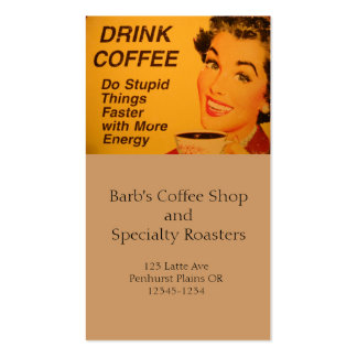 Do Stupid Things Faster Coffee Pack Of Standard Business Cards