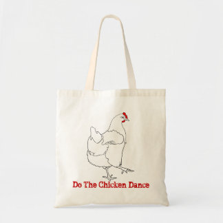 Do The Chicken Dance Funny Quirky Drawing Art Tote Bag