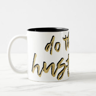 Do the Hustle with Red Lipstick Two-Tone Coffee Mug