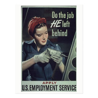"""Do the job HE left behind"" Postcard"