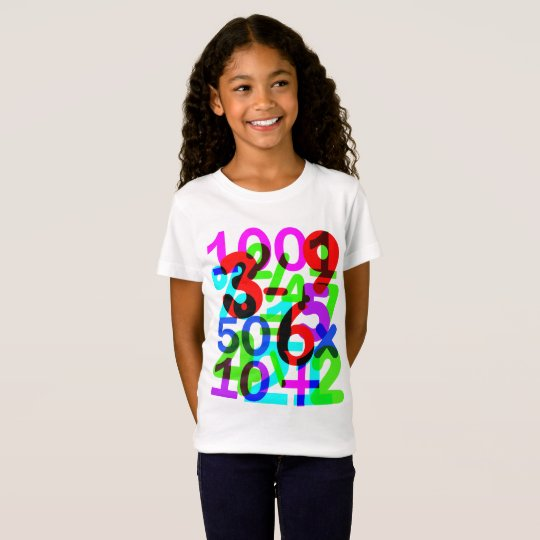 Do The Math Fun Colourful Numbers Typography T-Shirt