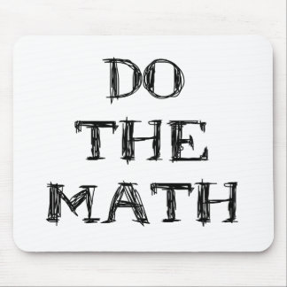 DO THE MATH MOUSE PAD