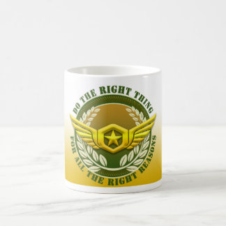 Do The Right Thing For All The Right Reasons Basic White Mug