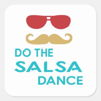 Do the Salsa Dance Square Sticker