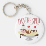Do The Split Basic Round Button Key Ring