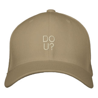 DO U Destroyed Cap Template Embroidered Baseball Cap