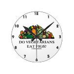 Do Vegetarians Eat Figs? (Pile Of Vegetables) Wallclock