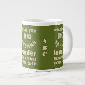 Do vs. Say custom mugs Jumbo Mug
