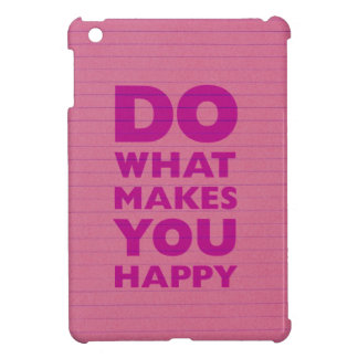 Do What Make You Happy Pink Notebook Paper Cover For The iPad Mini