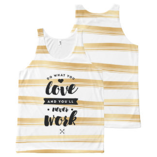 Do What You Love Gold Stripes Tank Top | Quotes
