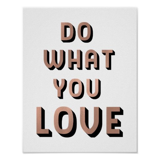 Do What You Love Quote | Faux Rose