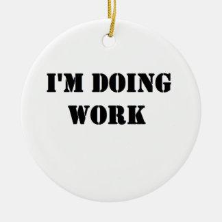 Do work- Black Ornament