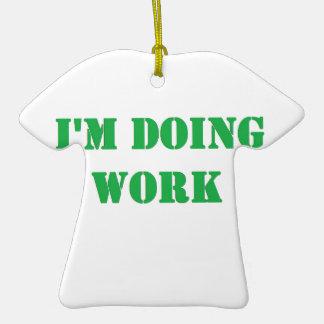 Do work- Green Christmas Ornament