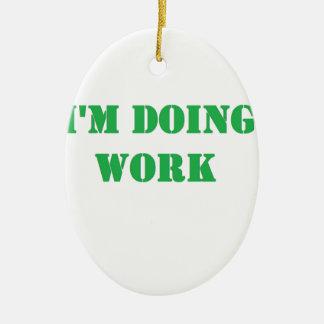 Do work- Green Christmas Tree Ornaments