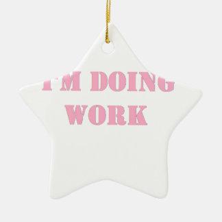 Do work- Pink Christmas Tree Ornament
