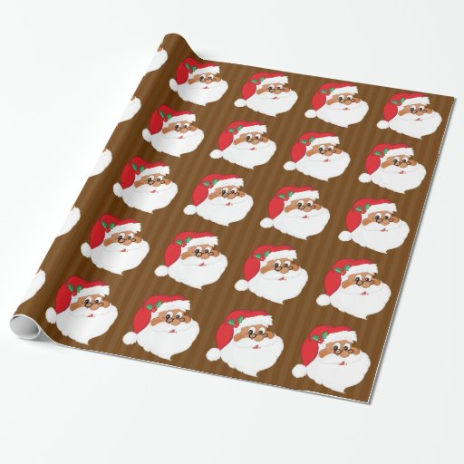 Do You Believe in Black Santa Claus? Wrapping Paper | Zazzle