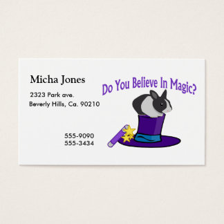 Do You Believe in Magic Business Card