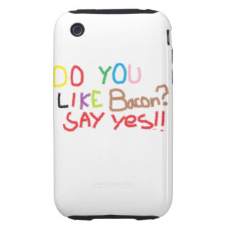 Do you equal bacon tough iPhone 3 covers