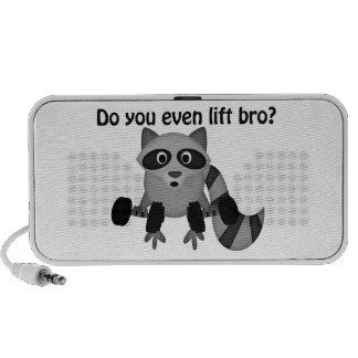 Do You Even Lift Bro Raccoon Mp3 Speakers