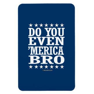 Do you Even 'Merica Bro - Patriotic Stars Rectangular Photo Magnet