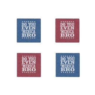 Do you Even 'Merica Bro - Patriotic Stars Stone Magnet