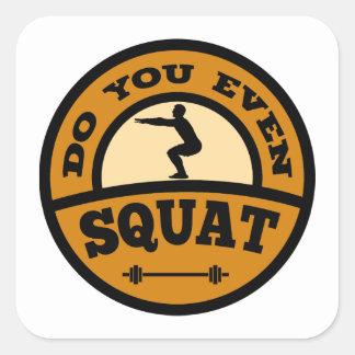 Do You Even Squat? Square Sticker