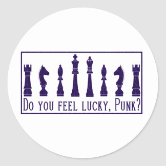 Do You Feel Lucky Round Stickers