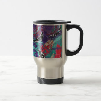 Do You Feel The Music? A Mixed Media Art Paint Stainless Steel Travel Mug