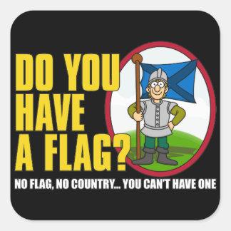 Do You Have A Flag? Square Sticker