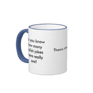 Do you know how many Polish jokes there really ... Ringer Mug