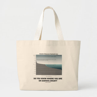 Do You Know Where You Are On Earth's Crust? Jumbo Tote Bag
