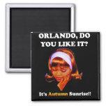 Do You Like It Orlando? It's Autumn Sunrise Refrigerator Magnets