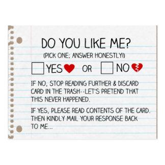 Do You Like Me? Postcards