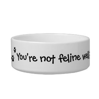 Do You Need a Purramedic Funny Cat Bowl