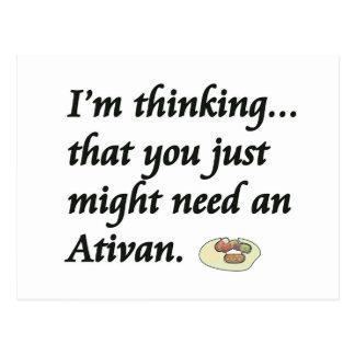 Do You Need an Ativan? Postcard