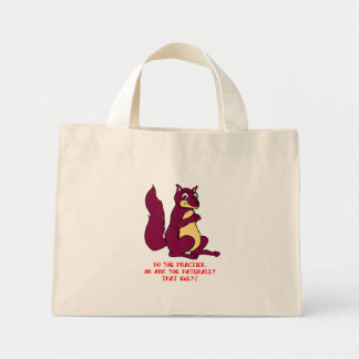 Do you practice, or are you naturally that ugly? mini tote bag