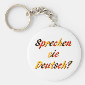 Do You Speak? Basic Round Button Key Ring