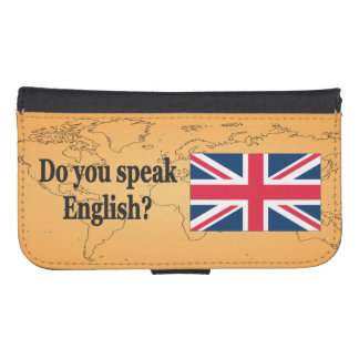 Do you speak English? in English. Flag bf