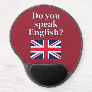 """Do you speak English?"" in English. Flag Gel Mouse Pad"
