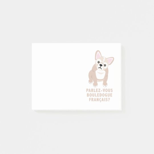 Do You Speak French Bulldog Cute Post-it Notes