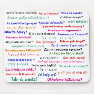 Do you speak ...? in many languages mouse mat