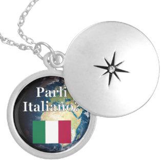 Do you speak Italian? in Italian. Flag & Earth Pendants
