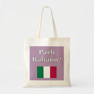 Do you speak Italian? in Italian. Flag Tote Bag