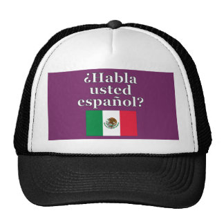 Do you speak Spanish? in Spanish. Flag Cap