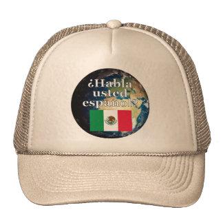 Do you speak Spanish? in Spanish. Flag & Earth Cap