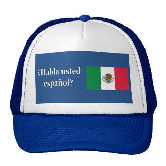 Do you speak Spanish? in Spanish. Flag wf Cap