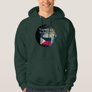 Do you speak Tagalog? in Tagalog. Flag & Earth Hoodie