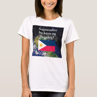 Do you speak Tagalog? in Tagalog. Flag & Earth T-Shirt