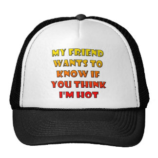Do You Think I'm Hot Funny Ball Cap Trucker Hat