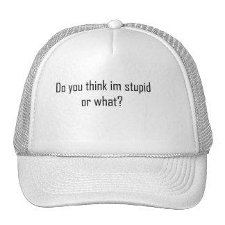 Do you think im stupid ? cap